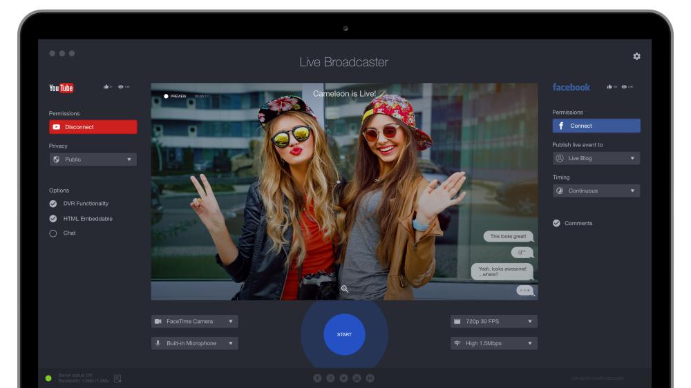 Live Broadcaster Mac Screen - MacBook
